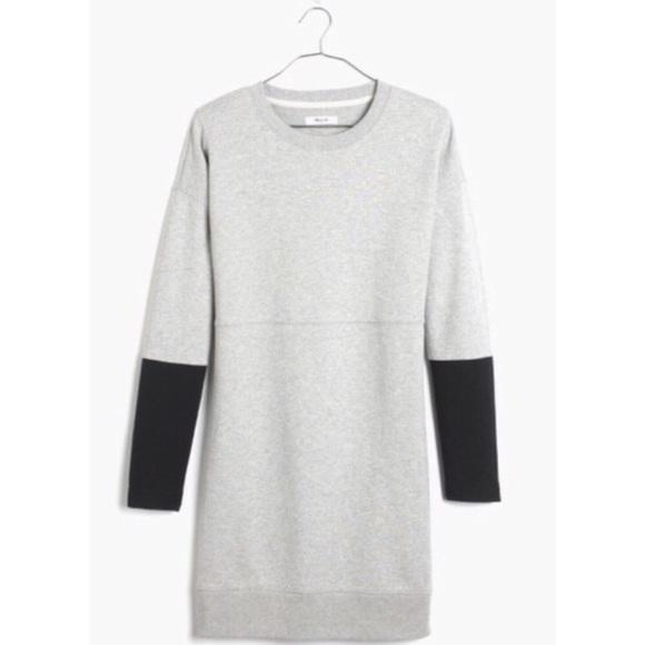 Madewell Dresses & Skirts - Madwell Gray Color Block Jumpstart Sweater Dress